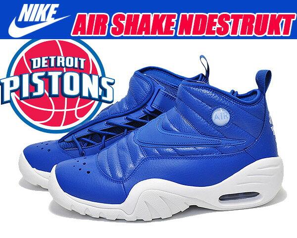メンズ靴, スニーカー NIKE AIR SHAKE NDESTRUKT blue jayblue jay-summit white