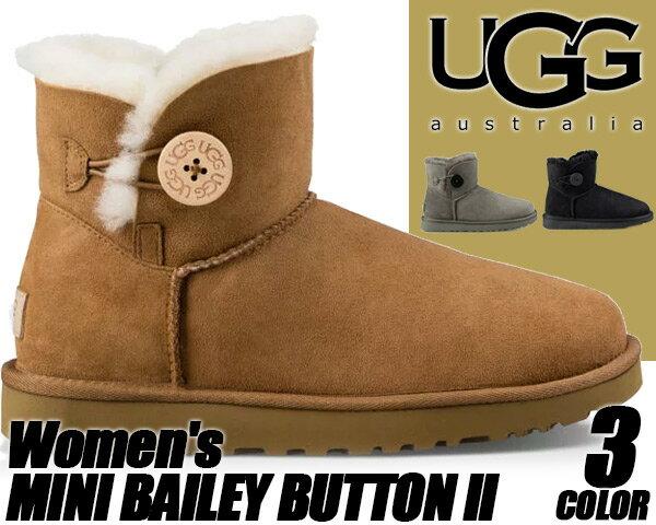 ブーツ, ムートンブーツ UGG WOMENS MINI BAILEY BUTTON II UGG UGG