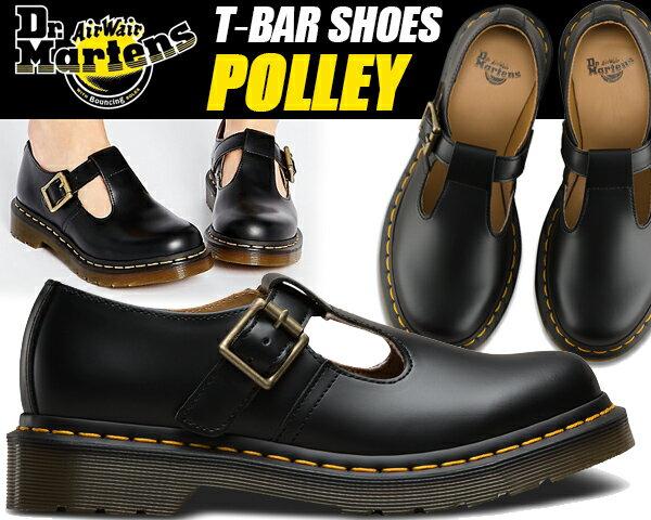 レディース靴, その他 Dr.Martens POLLEY SMOOTH BLACK POLLEY TBAR SHOE T T