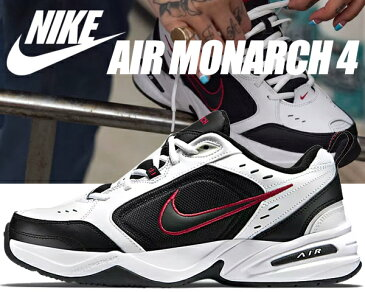 NIKE AIR MONARCH IV white/black 【ナイキ エアモナーク 4 DAD SHOES ダッドシューズ スニーカー メンズ chunky チャンキー 厚底】ワイズ D