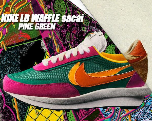 メンズ靴, スニーカー NIKE LD WAFFLESACAI pine greenclay org-del sol bv0073-301 LD LDV