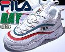 FILA RAY white/grn-red 【フィラ レイ...