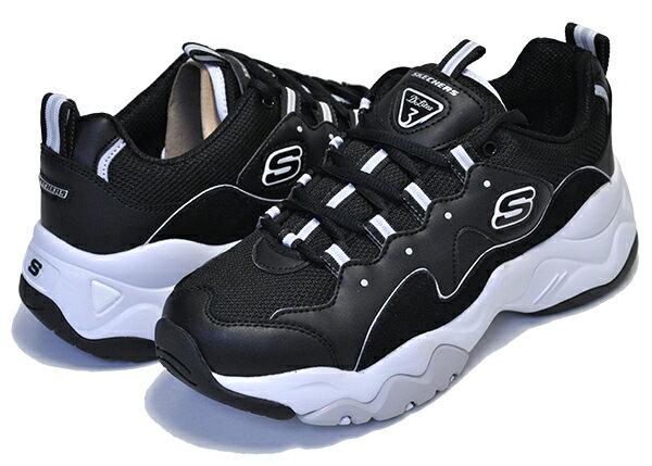 レディース靴, スニーカー SKECHERS D LITES 3.0 ZENWAY BLACKWHITE 3.0 MEMORY FOAM 12955 bkw DAD SHOES