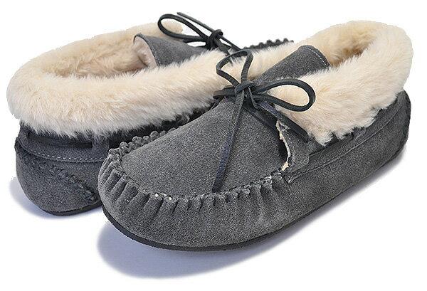 レディース靴, モカシン MINNETONKA CHRISSY BOOTIE GREY 40035 SLIPPER