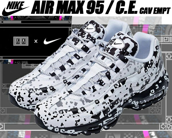 メンズ靴, スニーカー NIKE AIR MAX 95C.E whiteblack-stealth av0765-100 Cav Empt 95 C.E. SK8THING