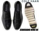 COLE HAAN ZEROGRAND WING OX black clsd ho w c20720 コールハーン ゼログランド ウィング オックス ビジネスシューズ 走れる オックスフォード カジュアル ウイングチップ 内羽根 ワイズ MEDIUM