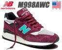 NEW BALANCE M998AWC MADE IN U.S.A. ニューバランス 998 スニーカー NB 998 メンズ パープル