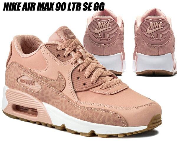レディース靴, スニーカー NIKE AIR MAX 90 LTR SE GG coral stardustrust pink-white 90 GG
