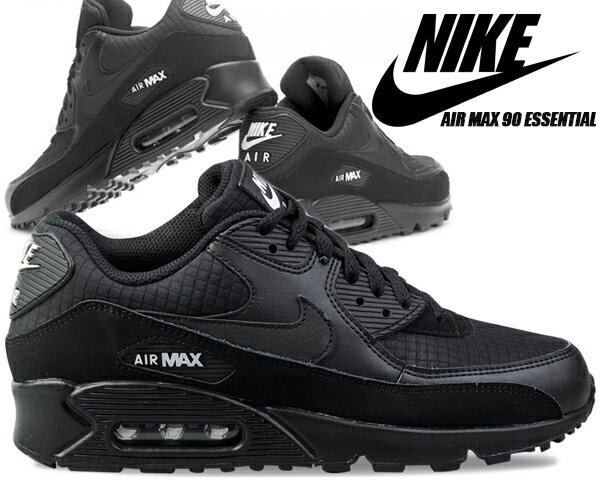 メンズ靴, スニーカー NIKE AIR MAX 90 ESSENTIAL blackwhite aj1285-019 90
