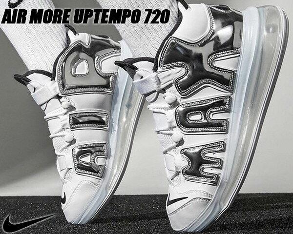 メンズ靴, スニーカー NIKE AIR MORE UPTEMPO 720 QS 1 whitechrome-black bq7668-100 720 AIR 720