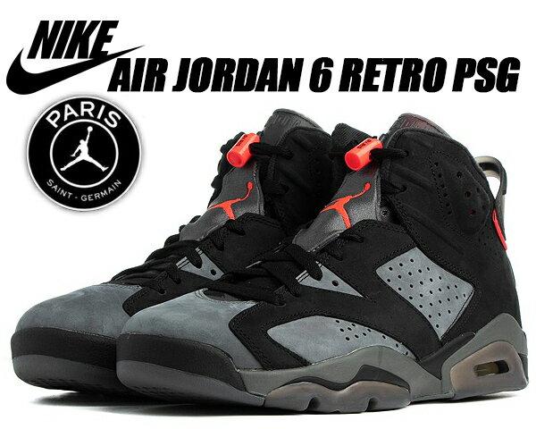 メンズ靴, スニーカー NIKE AIR JORDAN 6 RETRO PSG iron greyblack-infrared 23 ck1229-001 6 PSG FC PSG AJ VI