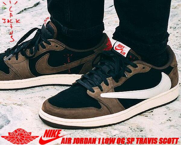 メンズ靴, スニーカー NIKE AIR JORDAN 1 LOW OG SP TRAVIS SCOTT blacksail-dark mocha cq4277-001 1 AJ1