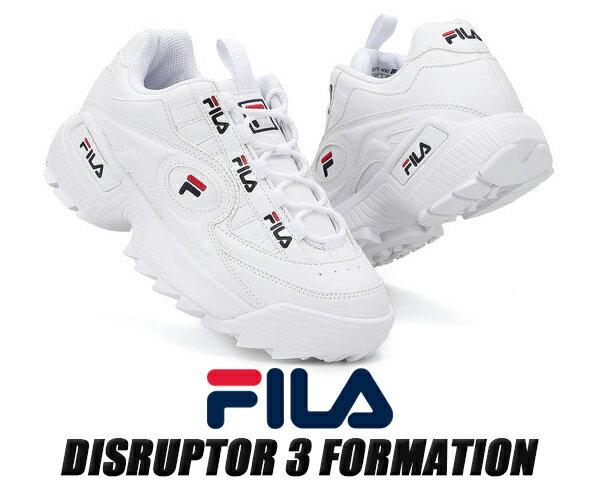 メンズ靴, スニーカー FILA DISRUPTOR 3 FORMATION WHITE FS1HTB1831X WWT 3