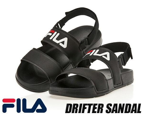 FILA DRIFTER SD BLACK fs1sib2000x-bbk フィラ ドリフター レディース サンダルブラック スポーツサンダル ストラップサンダル画像