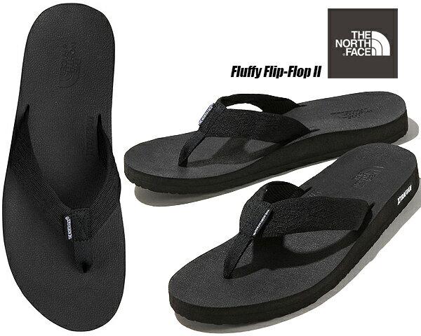 サンダル, トング  IITHE NORTH FACE FLUFFY FLIP-FLOP II BLACKBLACK NF51922 KK XTRAFOAM