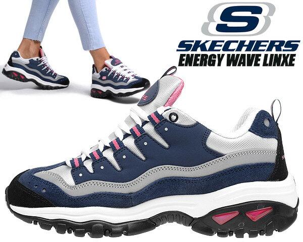 レディース靴, スニーカー SKECHERS ENERGY WAVE LINXE NAVYHOT PINK 13400