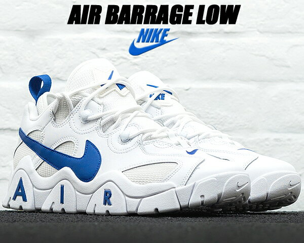 メンズ靴, スニーカー NIKE AIR BARRAGE LOW whitehyper blue cd7510-100