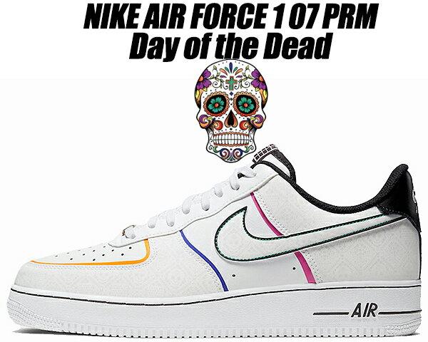 メンズ靴, スニーカー NIKE AIR FORCE 1 07 PRM Day of the Dead whitewhite-black ct1138-100 1 07 AF1