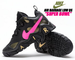 NIKE AIR BARRAGE LOW QS SUPER BOWL LIV black/pink blast-infinite gold ct8454-001 ナイキ エア バラージ ロー スーパーボウル スニーカー ターフ アメリカンフットボール