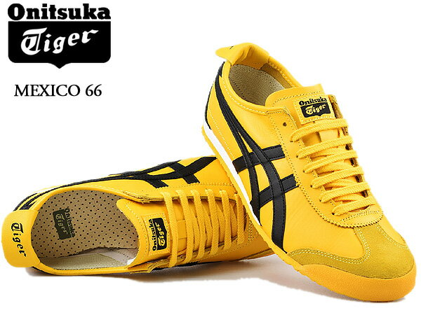 メンズ靴, スニーカー Onitsuka Tiger MEXICO 66 YELLOWBLACK dl408-0490 66 Kill Bill