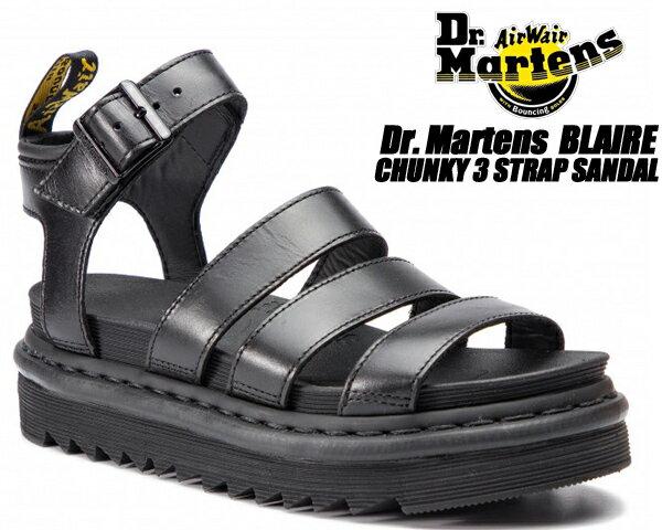 サンダル, スポーツサンダル Dr.Martens BLAIRE BLACK BRANDO 24191001 ZEBRILUS ZIGGY