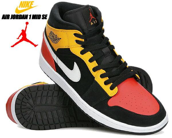 メンズ靴, スニーカー NIKE AIR JORDAN 1 MID SE ROSWELL RAYGUNS blackteam orange-amarillo 852542-087 1 AJ1