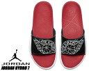 NIKE JORDAN HYDRO 7 black/white-gym red-white aa2517-001 ナイキ ジョーダン ハイドロ 7 メンズ サンダル スライド エアジョーダン ブラック レッド ホワイト スポーツサンダル
