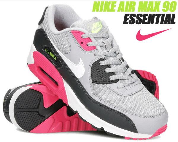 メンズ靴, スニーカー NIKE AIR MAX 90 ESSENTIAL wolf greywht-rush pink-volt aj1285-020 90 AM90