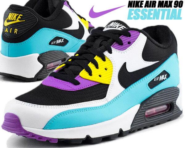 メンズ靴, スニーカー NIKE AIR MAX 90 ESSENTIAL blackwhite-bright violet aj1285-024 90 AM90