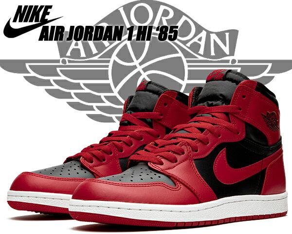 メンズ靴, スニーカー NIKE AIR JORDAN 1 HI 85 varsity redblack-varsity red bq4422-600 1 85 BRED BULLS RED
