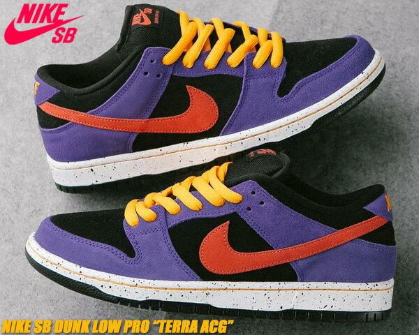 メンズ靴, スニーカー NIKE SB DUNK LOW PRO TERRA ACG blacksunburst-varsity purple bq6817-008 SB a.c.g.