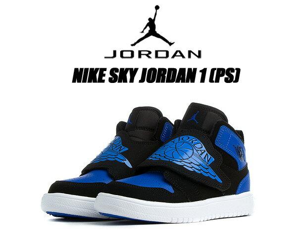 靴, スニーカー NIKE SKY JORDAN 1 (PS) blackhyper royal-white bq7197-004 1 ROYAL 16cm22cm