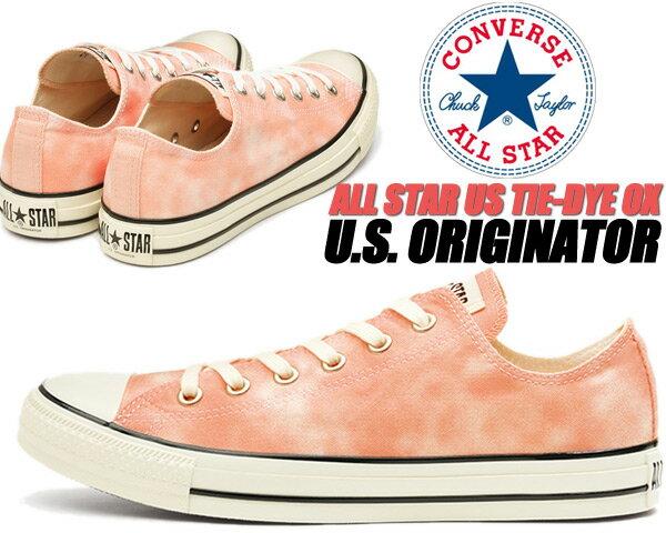 レディース靴, スニーカー CONVERSE ALL STAR US TIE-DYE OX PINK 31303721 1sc484 U.S. U.S. ORIGINATOR CHUCK TAYLOR