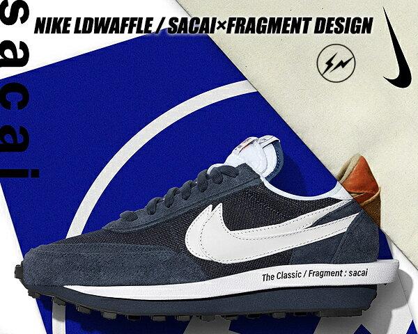 メンズ靴, スニーカー NIKE LDWAFFLE SACAI FRAGMENT DESIGN blue voidwhite-obsidian-white dh2684-400 LD