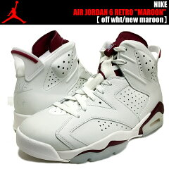 "NIKE AIR JORDAN 6 RETRO ""MAROON"" off wht/new maroon 【送料無料 ナイキ ジョーダン 6】"