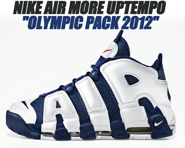メンズ靴, スニーカー NIKE AIR MORE UPTEMPO OLYMPIC PACK 2012 m.nvym.nvy-wht-red 414962-401