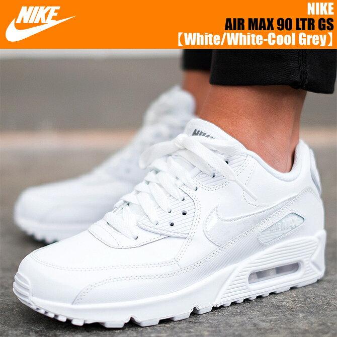 nike air max 90 gs white
