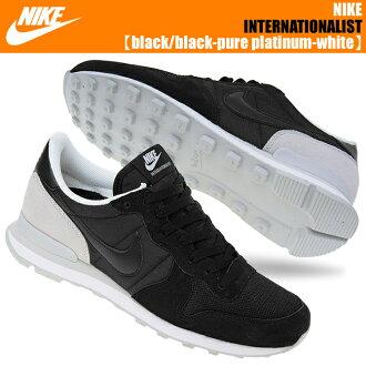 NIKE INTERNATIONALIST black/black-pure platinum-white