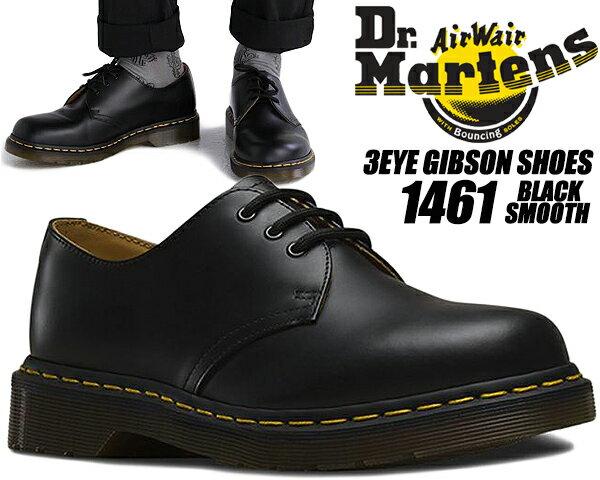ブーツ, ワーク Dr.Martens 1461 3EYE GIBSON SHOES BLACK 3 1461Z 3EYE GIBSON SHOE 11838002
