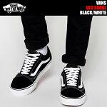 【バンズスニーカーオールドスクールメンズ】VANSOLDSKOOLblk/wht(ブラック×ホワイト)