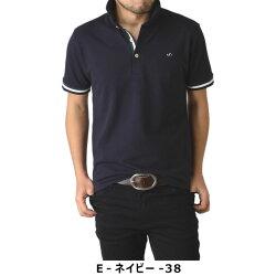 カラーリブカノコ半袖ポロシャツ