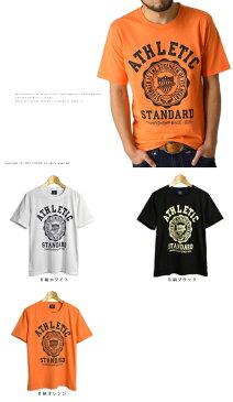 メンズ アメカジカレッジメッセージプリント半袖Tシャツ 通販M1【RQ0533】