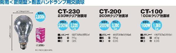 防雨(密閉型)耐震ハンドランプ 200WHL-5W-200T 日動(NICHIDO)