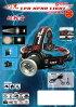 超軽量USB充電式COBLEDヘッドランプ(高照度タイプ)照明ヘッドライト【送料無料】ブラックコンドルヘルメット装着クリップ付き