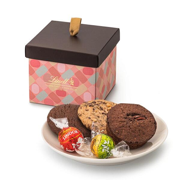 リンツLindtチョコレートリンツの焼き菓子カジュアルギフト(リンドール5個・焼き菓子3個) 母の日ギフト洋菓子ギフトかわいいお