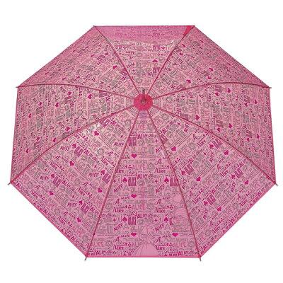 『大人のためのビニールキャラ傘の登場」アリスのプリントビニール傘