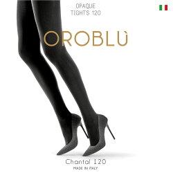 【OROBLU】(オロブル)Chantal(シャンタル)120インポートタイツ120デニールマルチファイバーコットンガゼット解剖学的ソフトトップタイツ