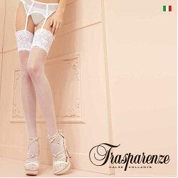 【Trasparenze(トラスパレンツェ)】Eleonora(エレオノーラ)インポートガーターシアータイツ20デニールつま先スルータイプフラットシームガーターシアータイツ