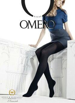 OMERO【オメロ】RELAXA40den「LINE」LINECollectionガードル付きライクラソフトコンフォートファイバー着圧サポートタイツ