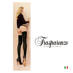 【Trasparenze(トラスパレンツェ)】Miranda70autoreggenteインポートガータータイツ70デニール爪先スルーバックライン入りシリコンストッパー付きガータータイツ